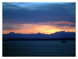 Sunset Over Elliot Bay and the Olympic Mountains