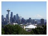 Seattle Skyline and Mt. Rainier from Kerry Park