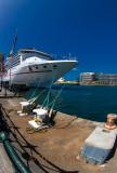 Carnival Spirit moored in Sydney Harbour