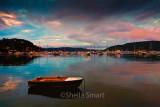Careel Bay at dusk