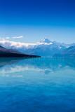 Portrait Mt Cook and Lake Pukaki