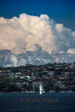Clouds approaching Sydney Harbour