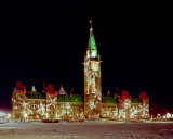 Parliament at Christmas