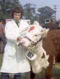 JW @ 16 with first prize Hereford Cow