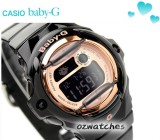 CASIO BABY-G DIGITAL 200M BG-169G BG-169G-1D GROSS BLACK ROSE GOLD FACE 100% AUTHENTIC with BOX