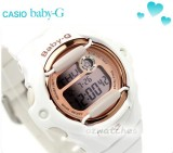 CASIO BABY-G DIGITAL 200M BG-169G BG-169G-7D WHITE ROSE GOLD FACE 100% AUTHENTIC with BOX