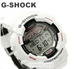 CASIO G-SHOCK G-LIDE GLS-100 GLS-100-1 WHITE CLOTH & LEATHER BAND STOCK RESISTANT