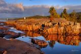 ** 120 - Grand Marais: Lighthouse Rocks In Warm Sunrise Light, 1