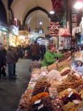 Istanbul bazaar. Martina completes a transaction!