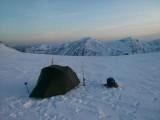 April 13 Ski tour camp north of Ben Macdui Cairngorms