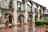 Arches at a mission near San Antonio