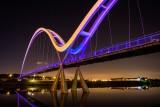 The Infinity Bridge At Midnight