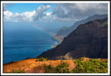 Rainbow on the Na Pali Coast (aerial view)