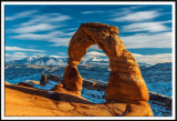 Delicate Arch and the Snowy La Sal Mountains