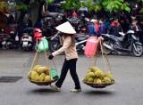 Durien street vendor, Hanoi, Vietnam