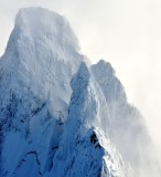 Vertical face of Mt Garfield, Cascade Mountains, Washington, PNW