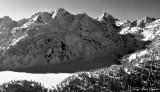 Chair Peak, Kaleetan Peak, Snow lake, Bryant Peak, Cascade Mountain, Washington