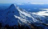 Mt Hood, Mt Jefferson, Three Sisters, Cascade Mountains, Oregon