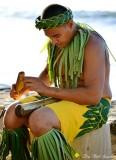 Luau performer, Old Lahaina Luau, Maui, Hawaii
