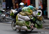 fresh produces on scooter, Hanoi, Vietnam