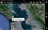 Google Maps on Kindle Fire HD 7 - Screenshot of SF Bay Area