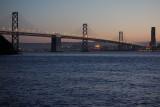 San Francisco Bay Bridge from Treasure Island. iso3200. #1687