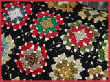 I See Red Crocheted Squares