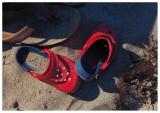 I see Red Crocs at the Beach . . .