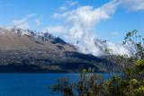 Mountains and clouds above Lake Wakatipu