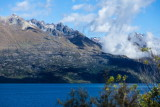 Mountains and clouds above Lake Wakitipu