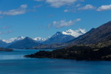 Snow covered mountains west of Lake Wakatipu