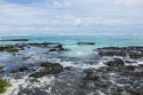 Moorea reef near a motu