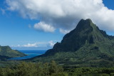 Moorea's Opunohu Bay and Rotui from the Belvedere Overlook