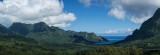 Panorama of Moorea's Opunohu Bay from the Belvedere Overlook