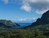 Moorea's Opunohu Bay from the Belvedere Overlook
