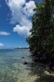 Shoreline near Atiha, Moorea, French Polynesia