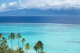 Looking across the reef to Tahiti from Moorea