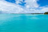 A Bora Bora motu from the airport