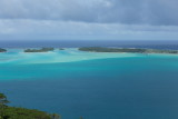 Bora Bora lagoon looking southwest