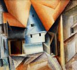 Lyonel Feininger - Ober-Weimar 1921.