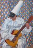 Pierrot wih guitar - Gino Severini 1923
