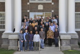 ISU Mechanical Engineering graduates 2013 with most faculty and a doggie pic 011