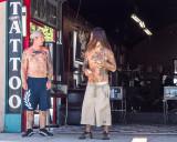 Tattoo shop customers