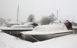 A very snowy Hickling Broad.