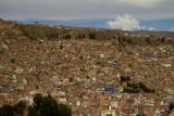 Les maisons accrochées au ravin. La Paz