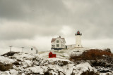 716DSC00964.jpg561 Winter Snow Falls on Nubble Lighthouse York Beach Maine