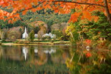 566DSC09907st.jpg The Little White Church in the FALL Eaton NH  ... see them all at...