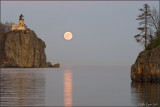 Harvest Moon over Split Rock Lighthouse