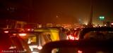 New Delhi freeway traffic jam
