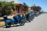 Motor cycle group comes to town